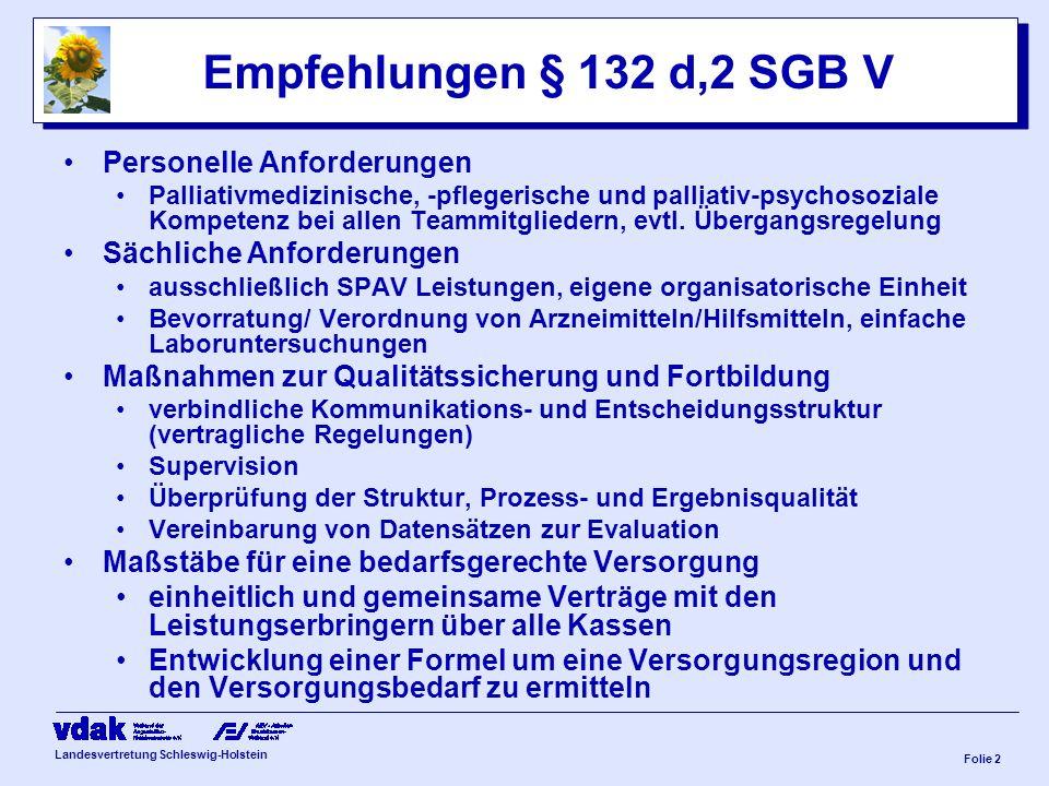 Empfehlungen § 132 d,2 SGB V Personelle Anforderungen