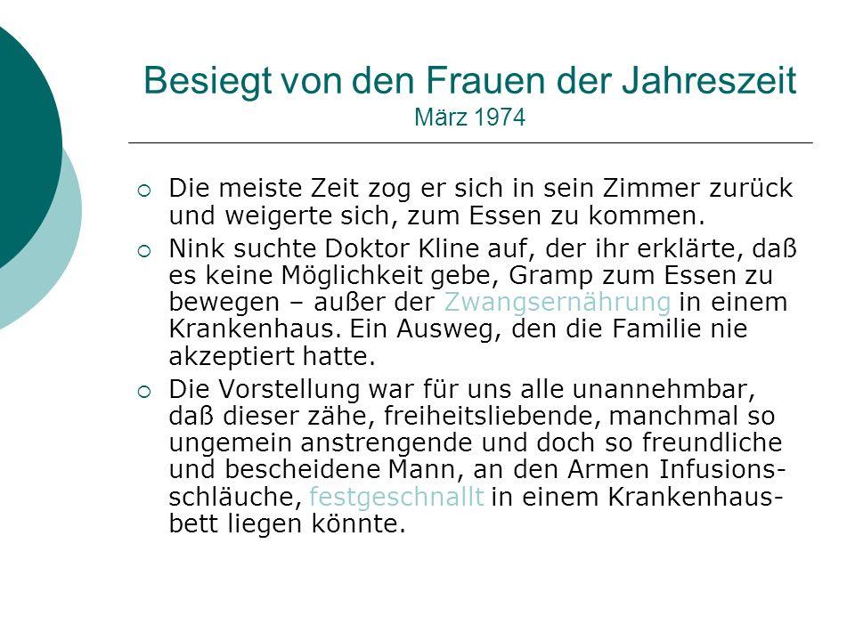 Besiegt von den Frauen der Jahreszeit März 1974