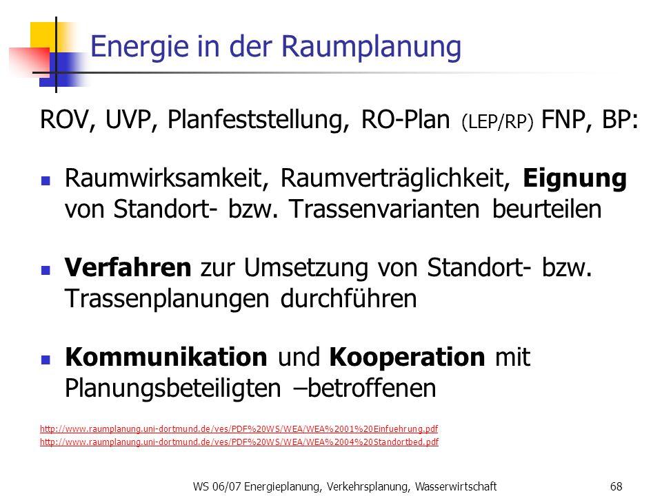 Energie in der Raumplanung