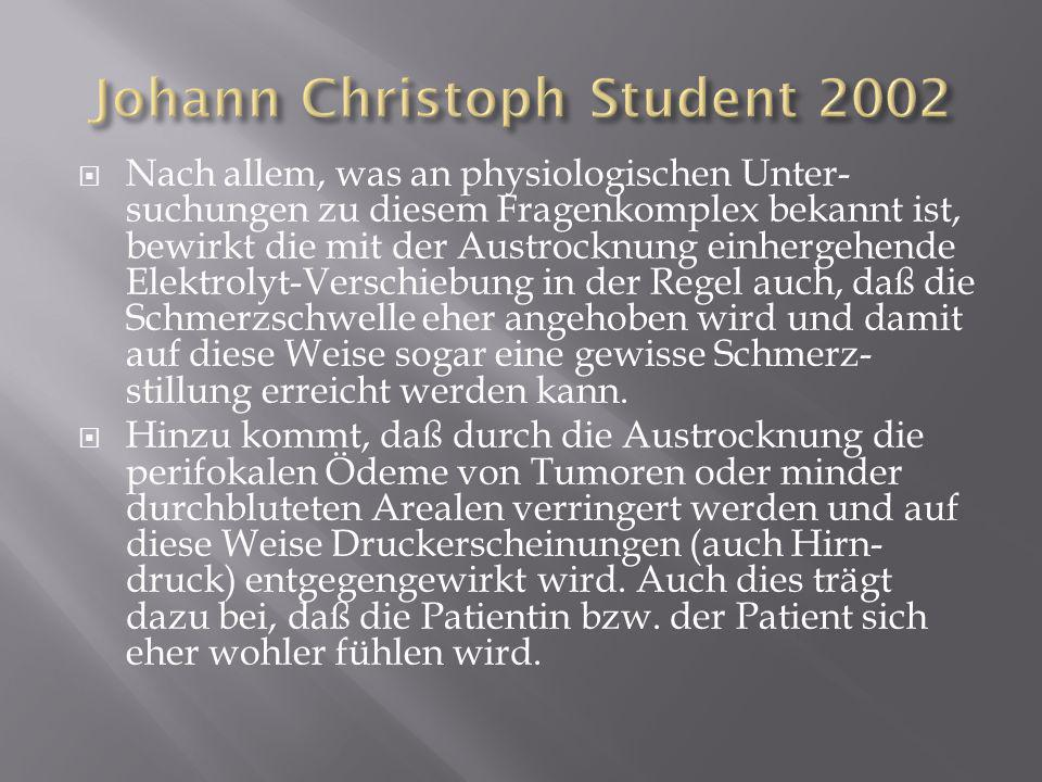 Johann Christoph Student 2002