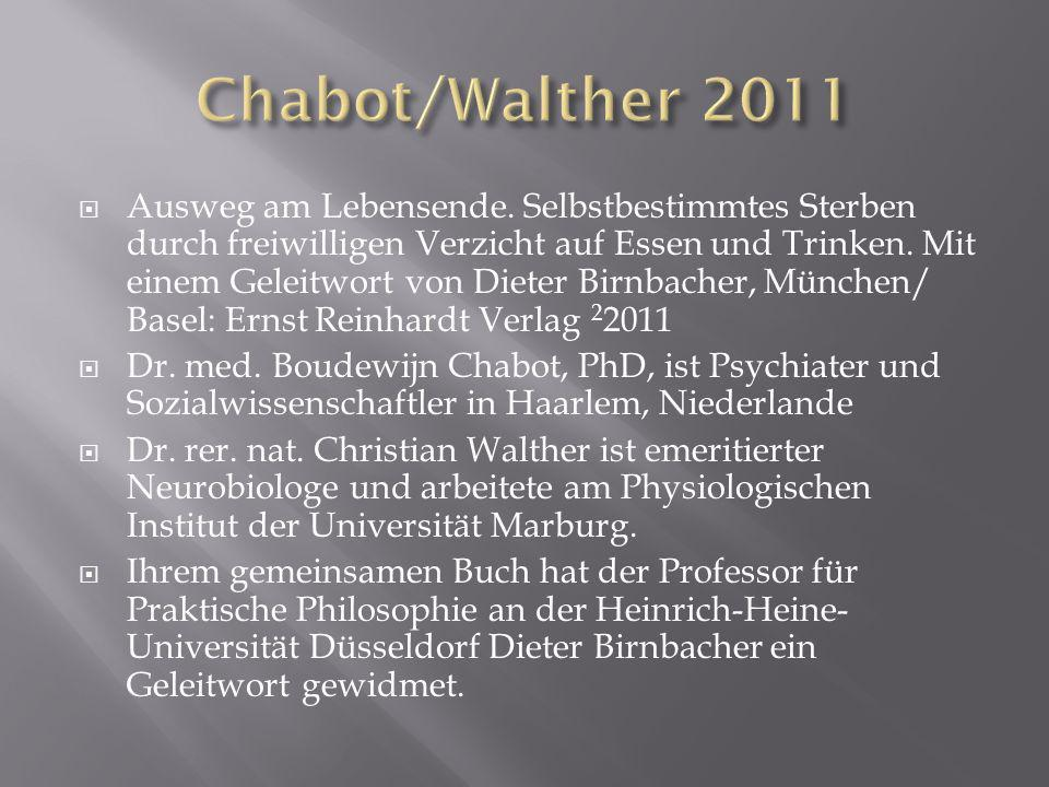 Chabot/Walther 2011