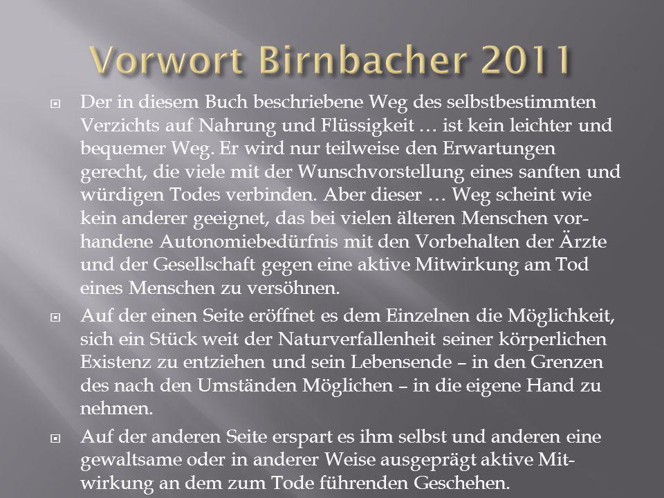 Vorwort Birnbacher 2011