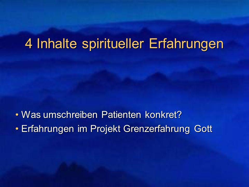 4 Inhalte spiritueller Erfahrungen