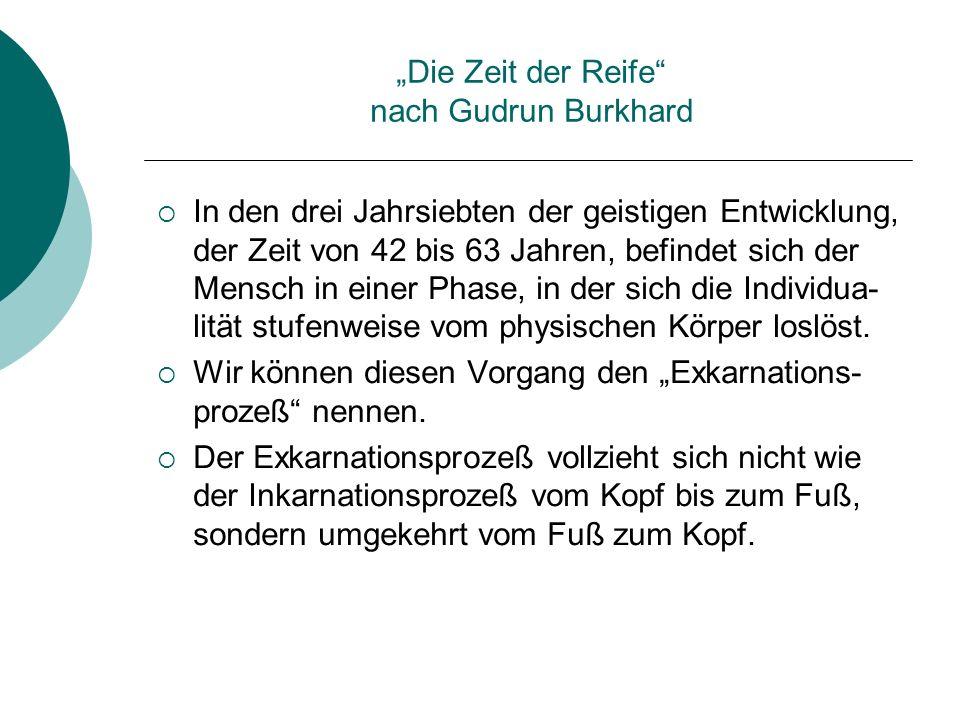 """""""Die Zeit der Reife nach Gudrun Burkhard"""