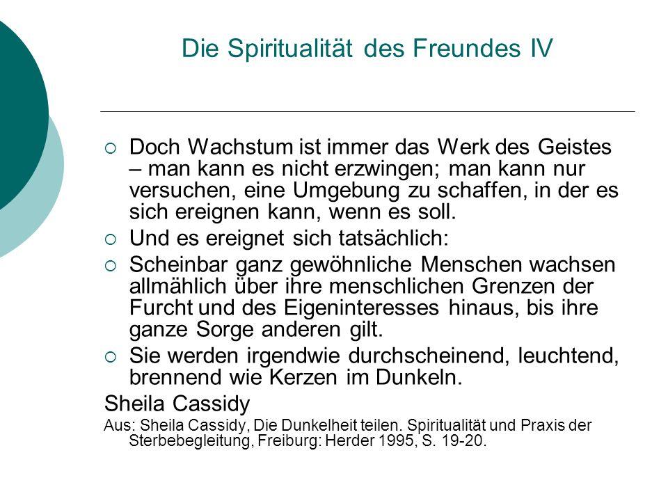 Die Spiritualität des Freundes IV
