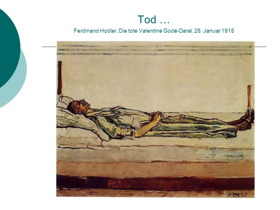 Tod … Ferdinand Hodler, Die tote Valentine Godé-Darel, 26. Januar 1915