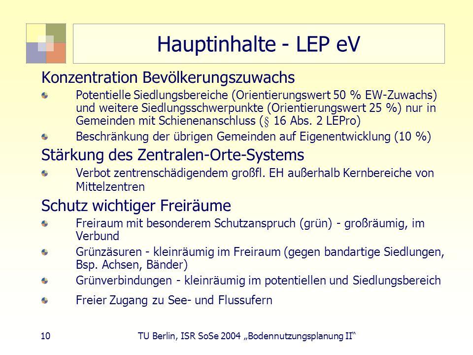 Hauptinhalte - LEP eV Konzentration Bevölkerungszuwachs