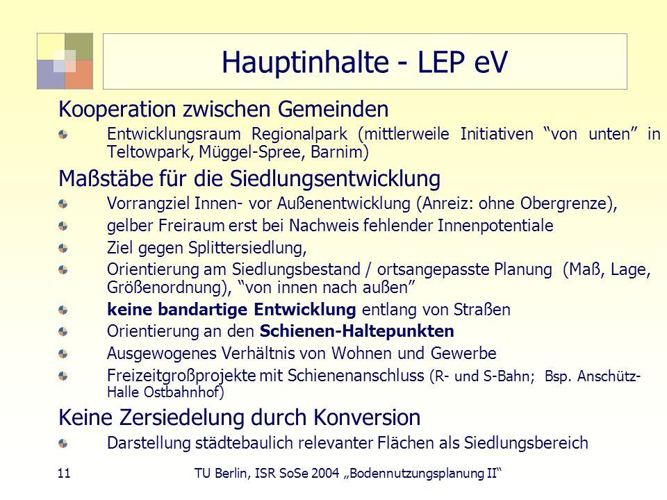 Hauptinhalte - LEP eV Kooperation zwischen Gemeinden