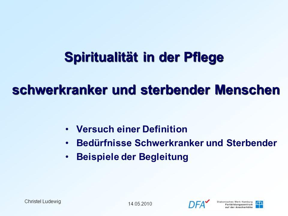 Spiritualität in der Pflege schwerkranker und sterbender Menschen