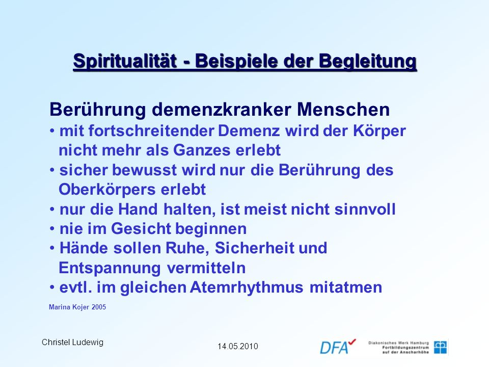Spiritualität - Beispiele der Begleitung