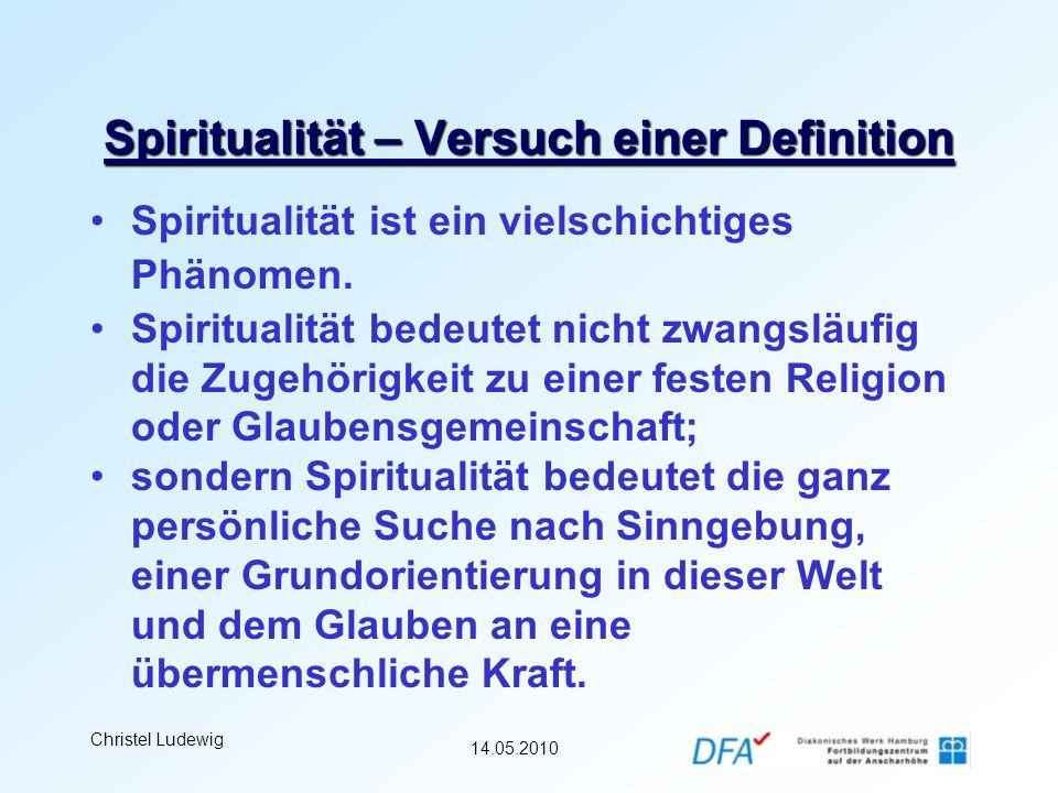 Spiritualität – Versuch einer Definition