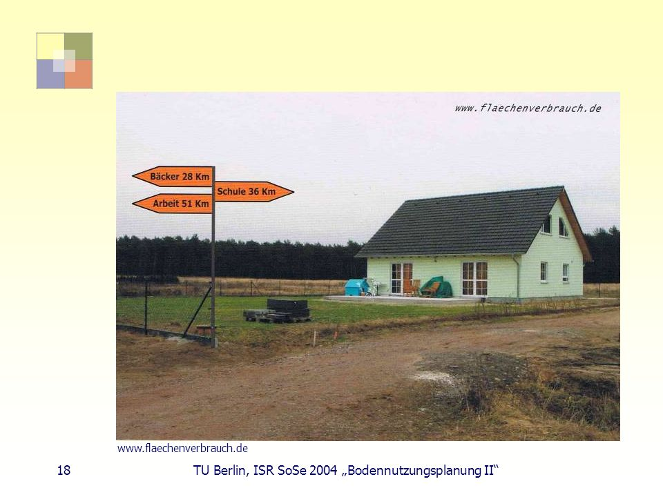 """18 TU Berlin, ISR SoSe 2004 """"Bodennutzungsplanung II"""
