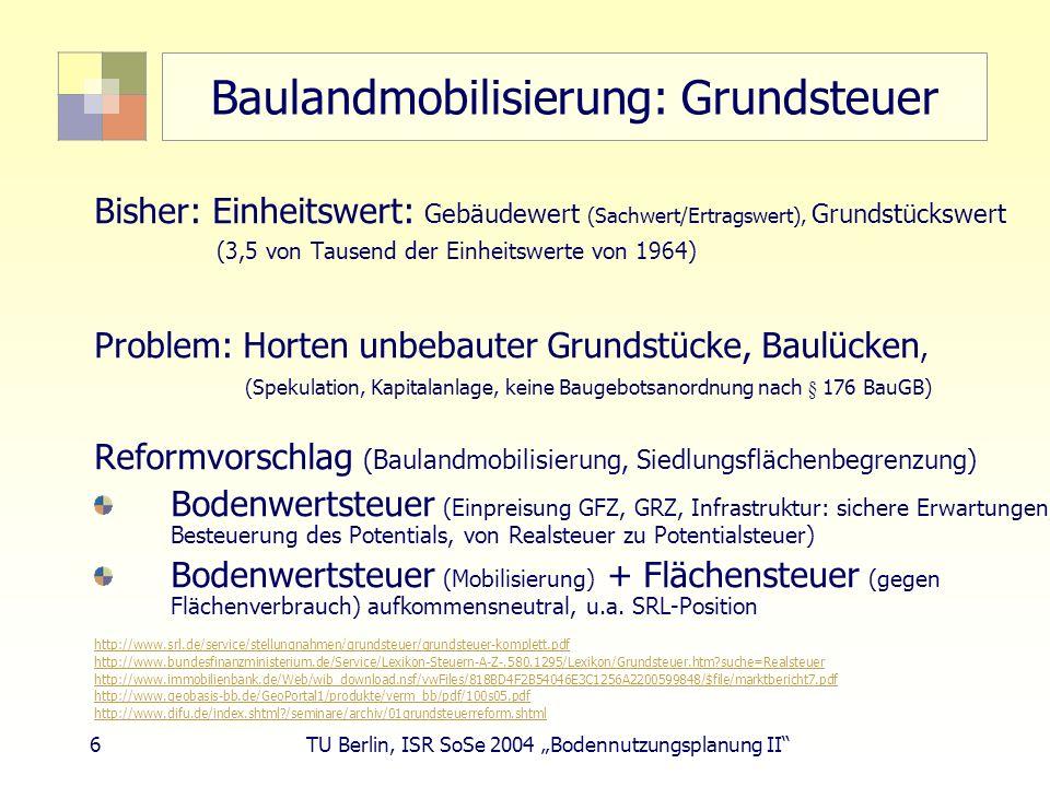 Baulandmobilisierung: Grundsteuer