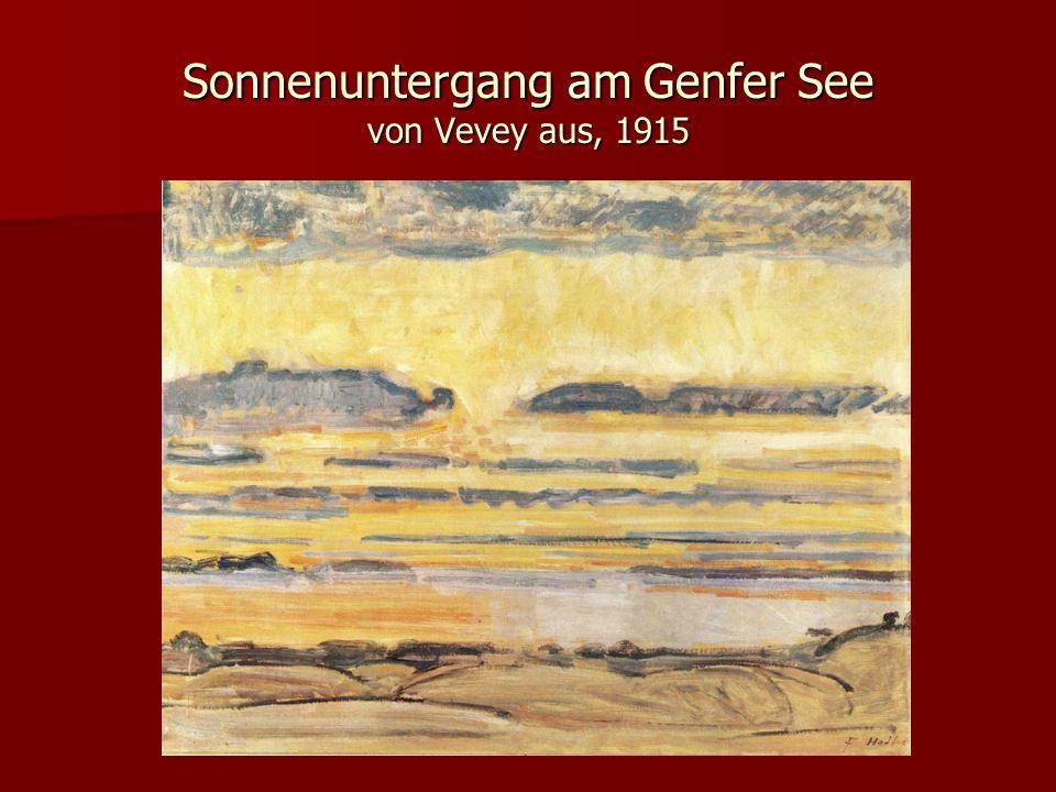 Sonnenuntergang am Genfer See von Vevey aus, 1915