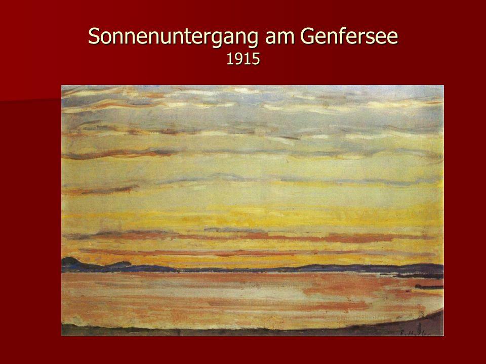 Sonnenuntergang am Genfersee 1915