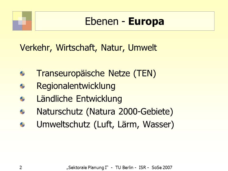 Ebenen - Europa Verkehr, Wirtschaft, Natur, Umwelt