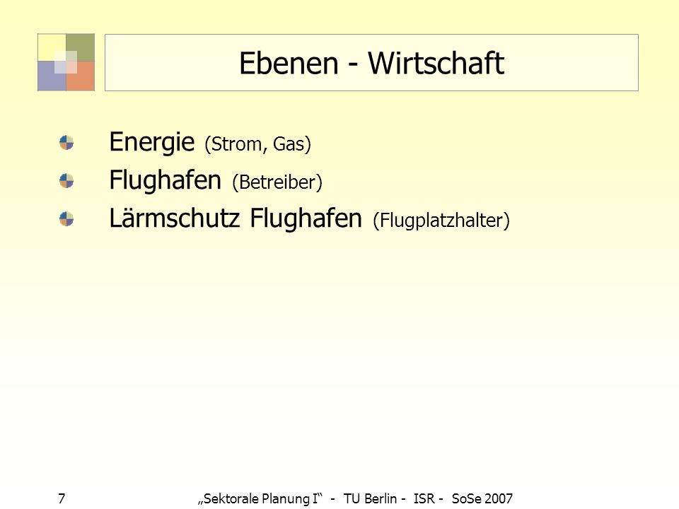 Ebenen - Wirtschaft Energie (Strom, Gas) Flughafen (Betreiber)