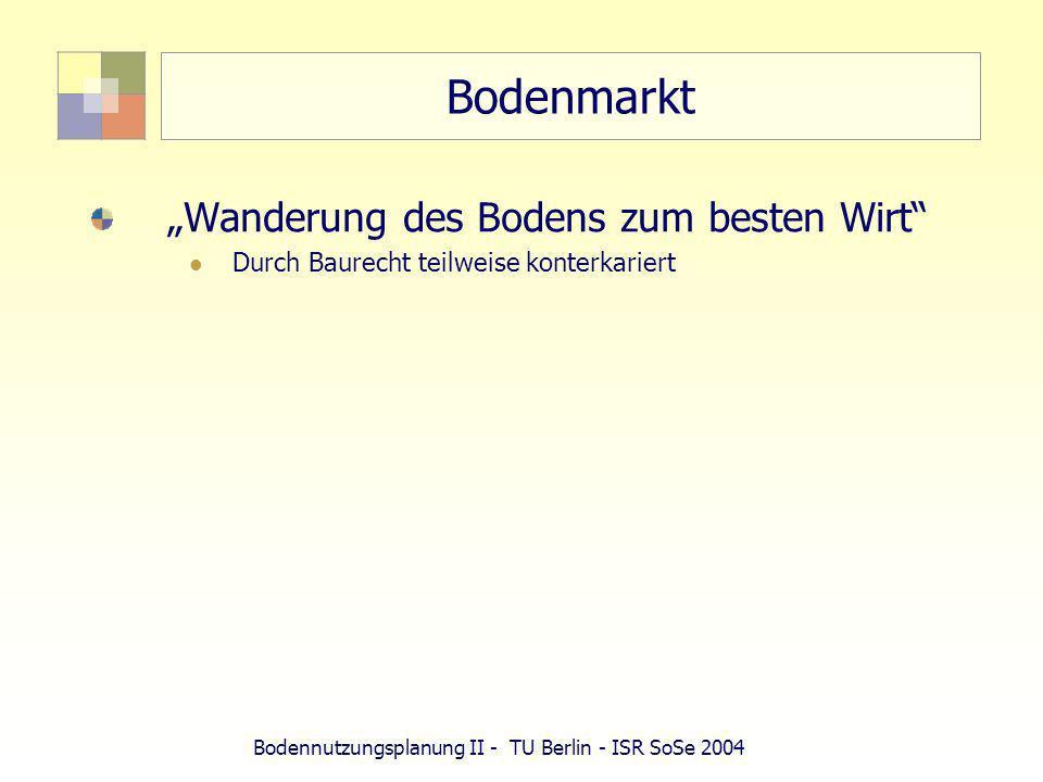 Bodennutzungsplanung II - TU Berlin - ISR SoSe 2004