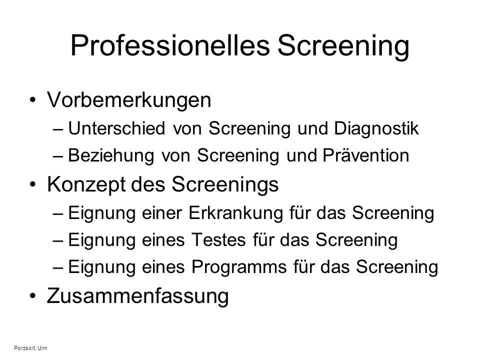 Professionelles Screening