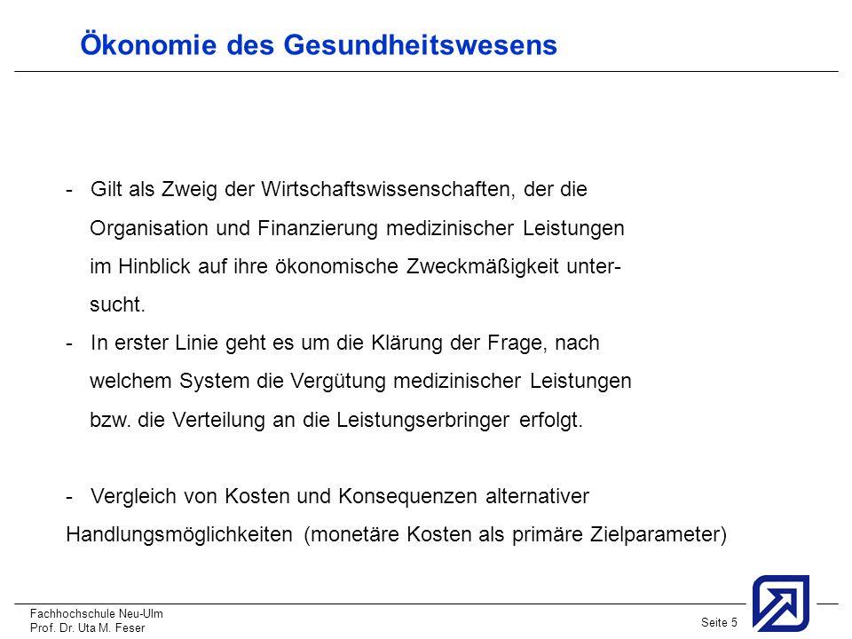 Ökonomie des Gesundheitswesens
