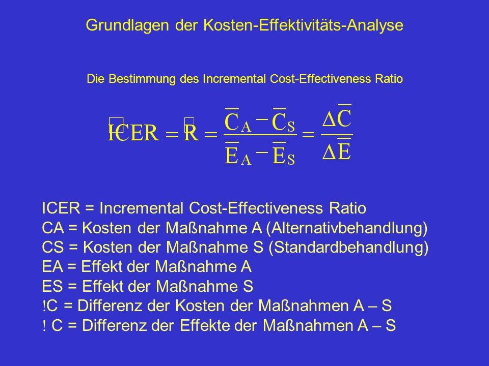 Grundlagen der Kosten-Effektivitäts-Analyse