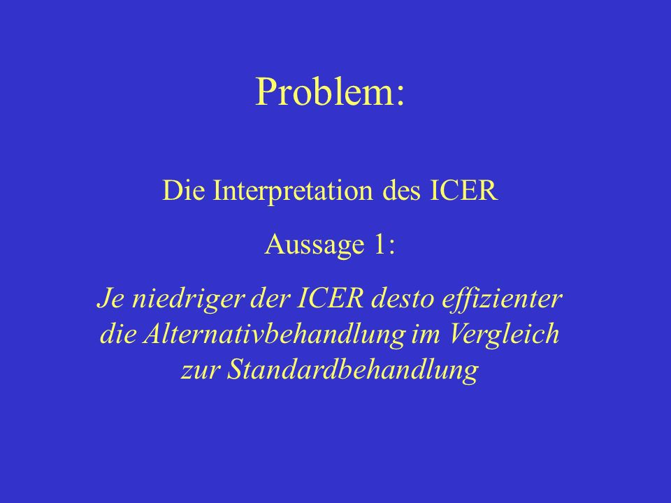 Die Interpretation des ICER