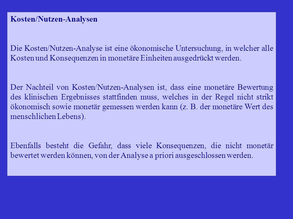 Kosten/Nutzen-Analysen