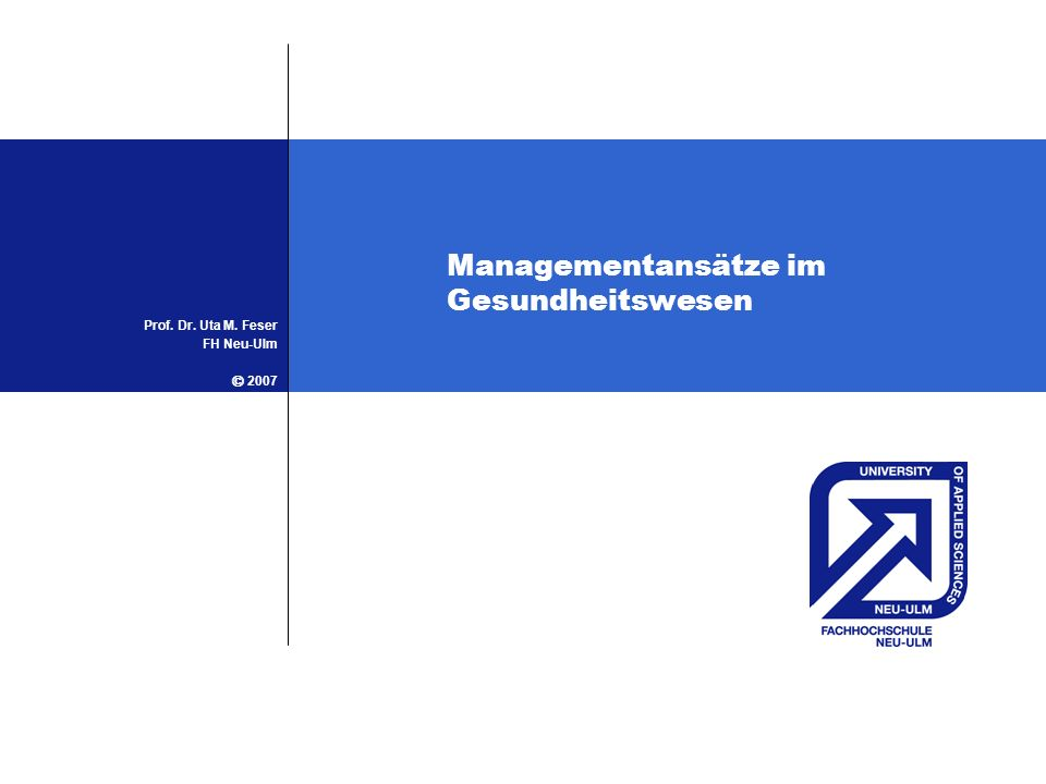 Managementansätze im Gesundheitswesen