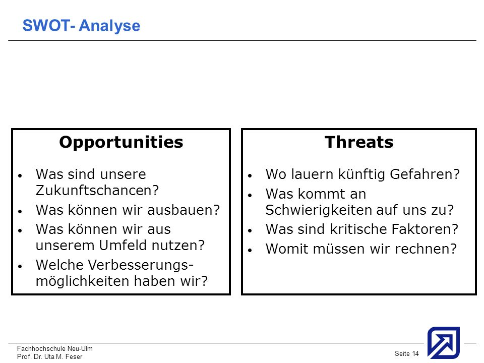 Opportunities Threats