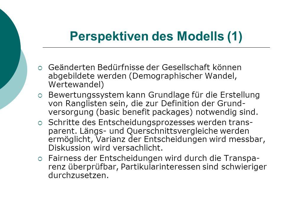 Perspektiven des Modells (1)