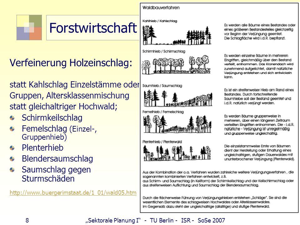 Forstwirtschaft Verfeinerung Holzeinschlag: