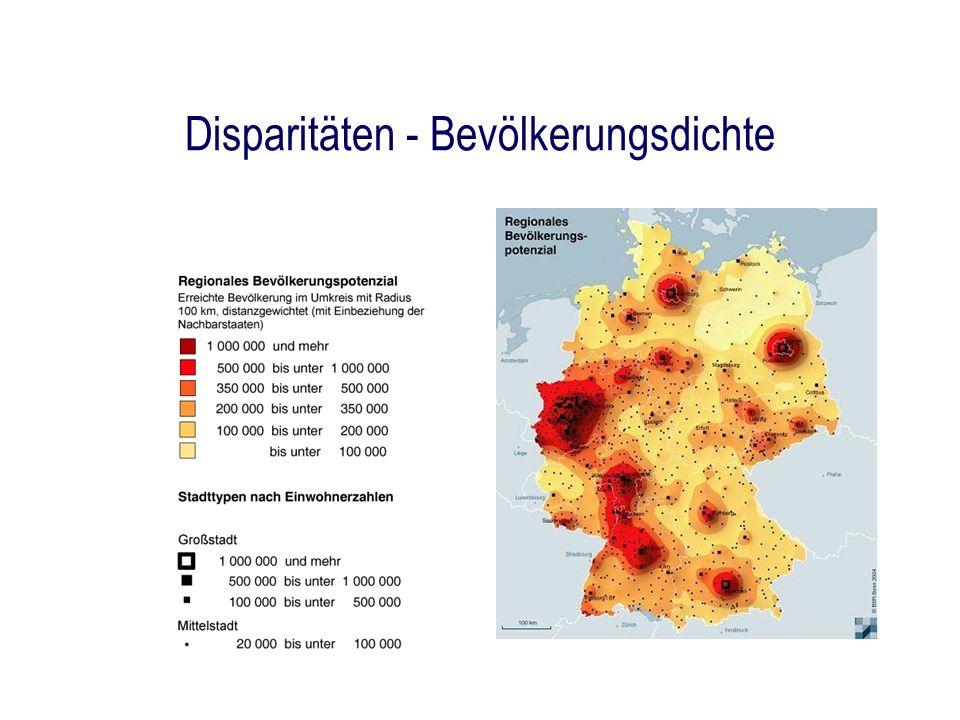 Disparitäten - Bevölkerungsdichte