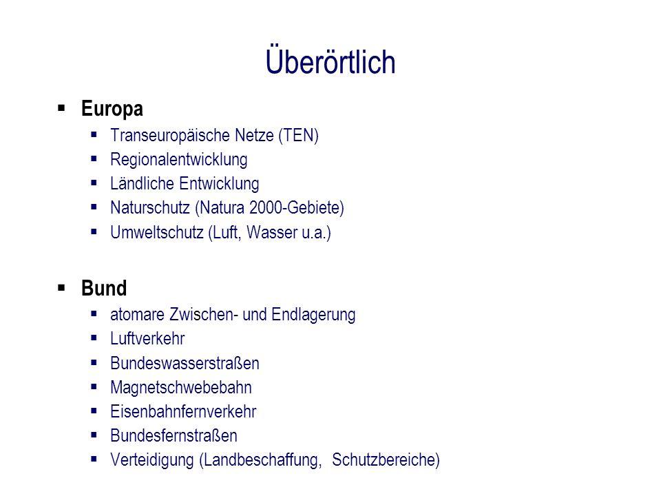 Überörtlich Europa Bund Transeuropäische Netze (TEN)