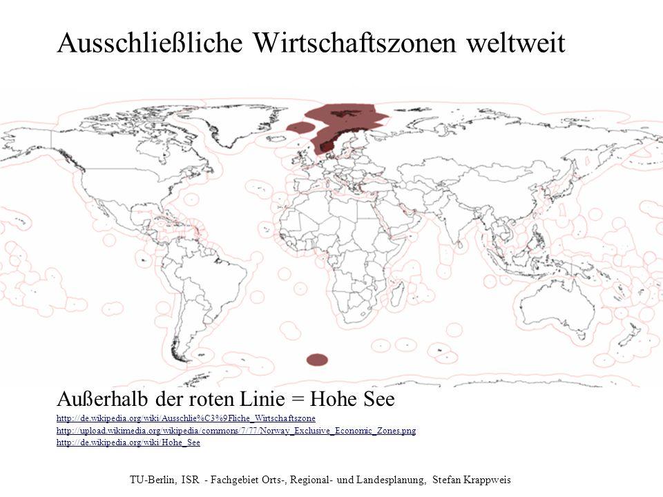 Ausschließliche Wirtschaftszonen weltweit