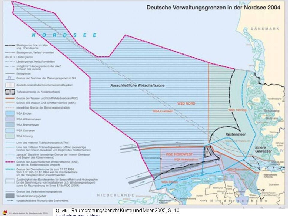 Raumordnungsbericht Küste und Meer 2005, Schleswig-Holstein