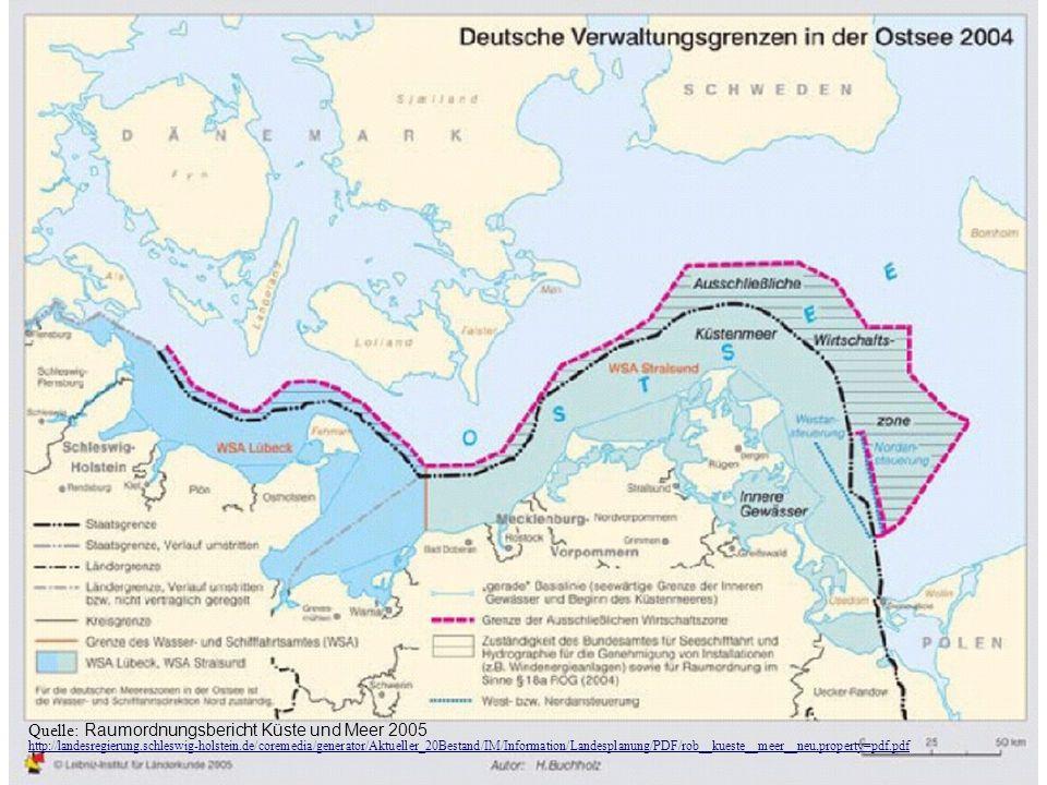 Quelle: Raumordnungsbericht Küste und Meer 2005