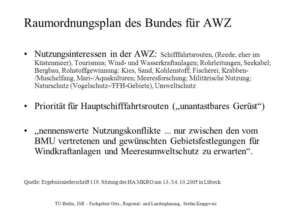 Raumordnungsplan des Bundes für AWZ