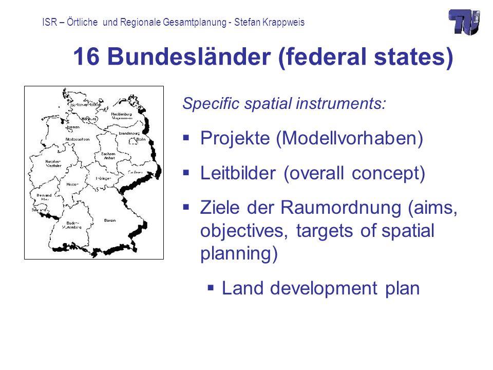 16 Bundesländer (federal states)