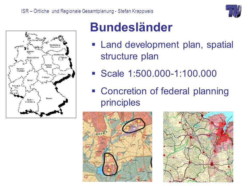Bundesländer Land development plan, spatial structure plan