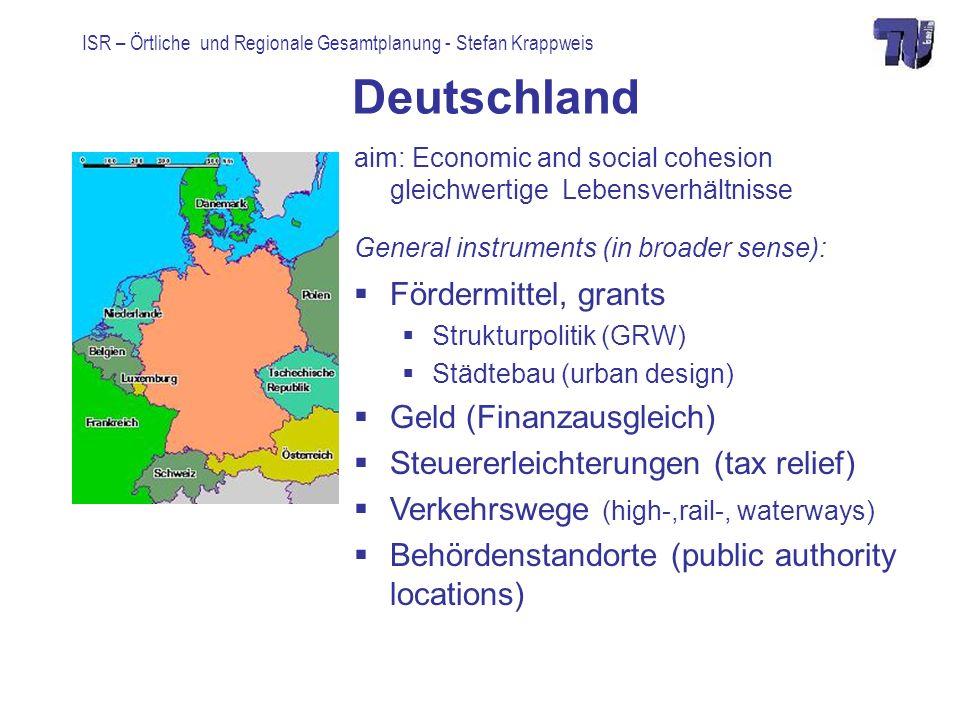 Deutschland Fördermittel, grants Geld (Finanzausgleich)