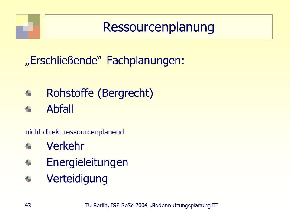 """Ressourcenplanung """"Erschließende Fachplanungen: Rohstoffe (Bergrecht)"""