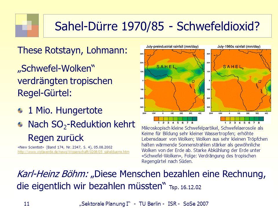 Sahel-Dürre 1970/85 - Schwefeldioxid