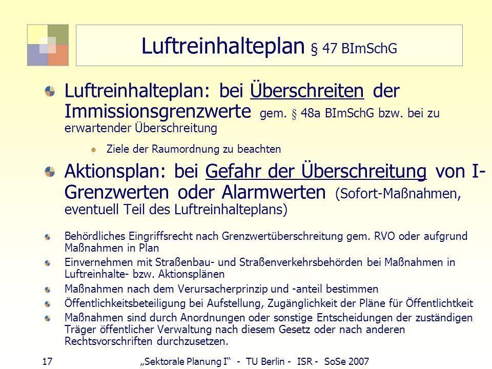 Luftreinhalteplan § 47 BImSchG