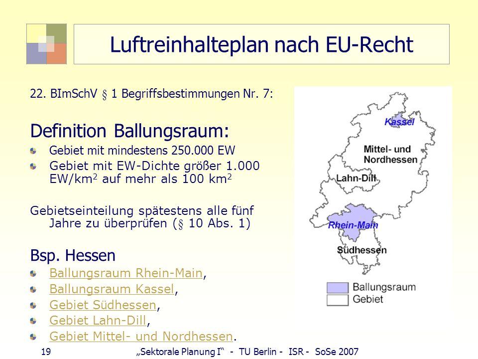 Luftreinhalteplan nach EU-Recht