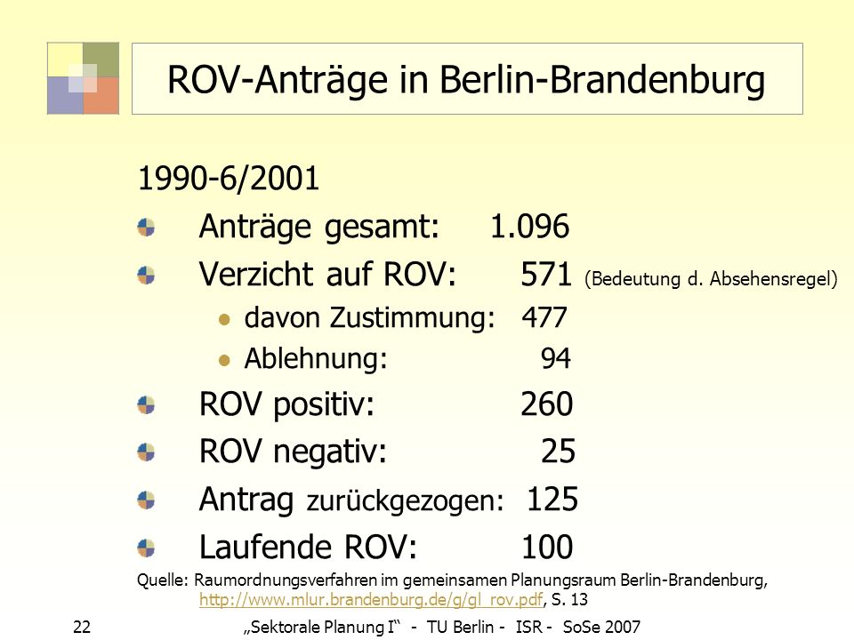ROV-Anträge in Berlin-Brandenburg