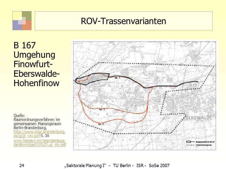 ROV-Trassenvarianten