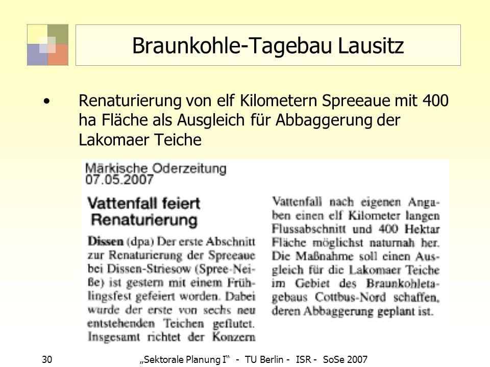 Braunkohle-Tagebau Lausitz