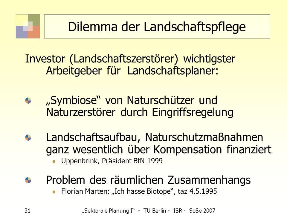 Dilemma der Landschaftspflege