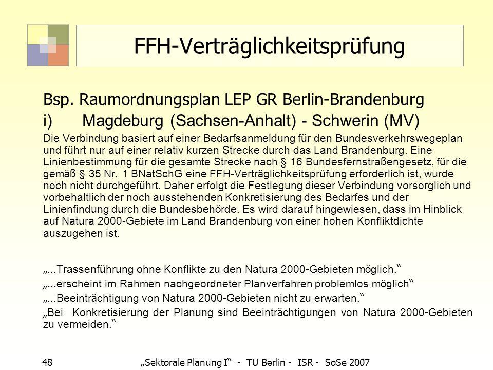 FFH-Verträglichkeitsprüfung