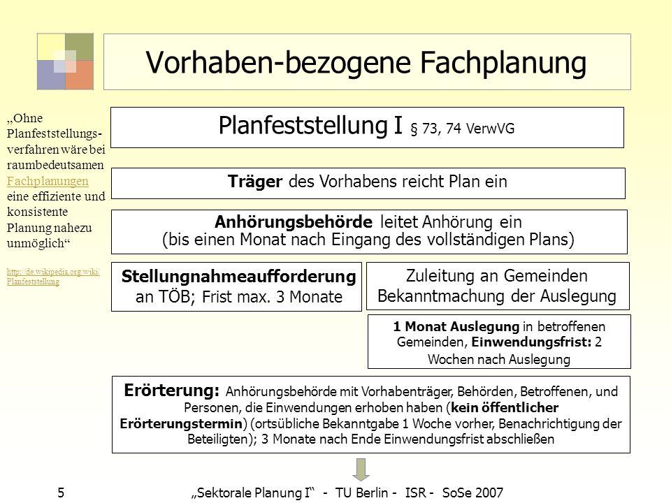 Vorhaben-bezogene Fachplanung